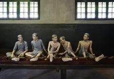 The Maison Centrale Hoa Lo Prison in Hanoi, Vietnam stock images