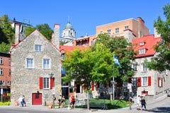 Maison Chevalier, Quebec City, Canada. Maison Chevalier, a part of Musee de la Civilisation in Quebec City, Canada. It was built for an 18th-century merchant Stock Photography