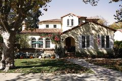 Maison classique sur la péninsule du sud de la Californie de San Francis Photos stock