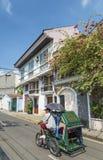 Maison coloniale dans la région intra-muros de Manille Philippines Images stock