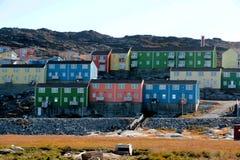 Maison colorée dans Ilulissat, Groenland Photos stock