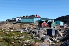 Maison colorée dans Ilulissat, Groenland Image stock