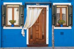 Maison colorée en île de Burano, Venise Images libres de droits