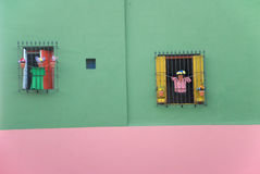 Maison colorée en La Boca - Buenos Aires photo libre de droits