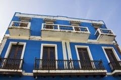 Maison colorée en San Juan Puerto Rico photographie stock