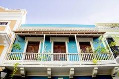 Maison colorée en San Juan Puerto Rico images libres de droits