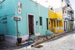 Maison colorée en San Juan Puerto Rico image libre de droits
