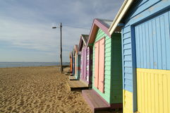 Maison colorée, plage de Brighton, Melbourne photos libres de droits