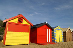 Maison colorée, plage de Brighton, Melbourne photo stock