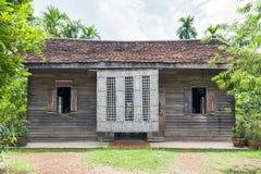 Maison commémorative du ` s de Ho Chi Minh, dépendance en bois dans le village Thaïlandais-vietnamien d'amitié dans Nakhon Phanom Photo libre de droits