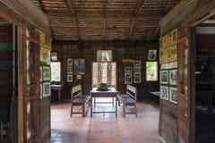Maison commémorative du ` s de Ho Chi Minh, dépendance en bois dans le village Thaïlandais-vietnamien d'amitié dans Nakhon Phanom Image libre de droits