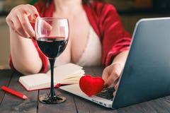 Maison, communication, amour et Internet Image libre de droits
