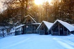 maison couverte de neige Photographie stock