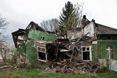 maison détruite photographie stock