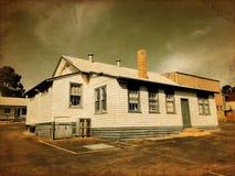 Maison d'école de vintage Images libres de droits