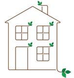 Maison d'écologie illustration de vecteur
