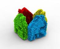 Maison d'écologie de couleur Photographie stock