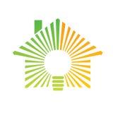 Maison d'énergie de logo Photographie stock libre de droits