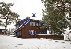 Maison d'été de Thomas Mann dans Nida lithuania photo libre de droits