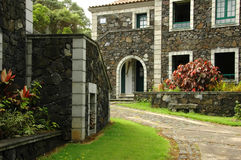Maison d'été des Açores Photos stock