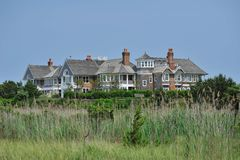 Maison d'été sur la plage Images stock