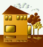 Maison d'or Image stock