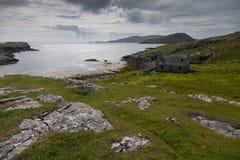 Maison d'Abandonned sur l'île de Barra Images libres de droits
