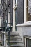 Maison d'Amsterdam d'entrée Photo stock