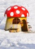 Maison d'amusement de jeu de champignon Images libres de droits