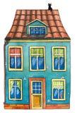 Maison d'aquarelle Photos libres de droits