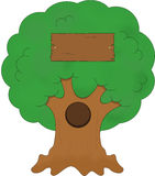 Maison d'arbre de chêne illustration stock