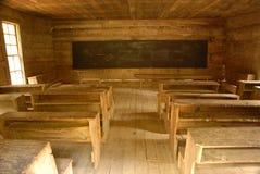 Maison d'école de pièce du pays un de cru. Photos stock