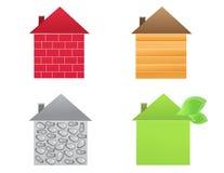 Quatre maisons Photos libres de droits