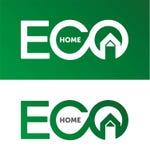 Maison d'Eco, logo de maison, logotype à la maison, eco, vert, calibre de vecteur illustration libre de droits