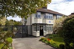 Maison d'enfance de John Lennon à Liverpool Image libre de droits