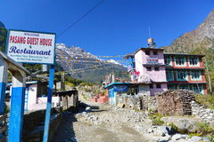 Maison d'hôtes au Népal images stock