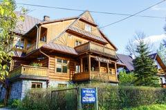 Maison d'hôtes Sfinks dans Zakopane Images stock