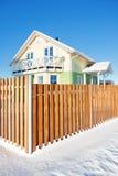 Maison d'hiver photographie stock