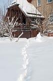 Maison d'hiver Images libres de droits