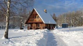 Maison d'hiver Image stock
