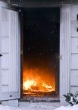 maison d'incendie Photos libres de droits