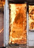 maison d'incendie Photos stock