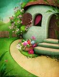 Maison d'oeuf de pâques illustration libre de droits