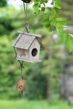 Maison d'oiseau sur l'arbre Image stock
