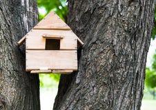 Maison d'oiseau sur l'arbre Photographie stock libre de droits