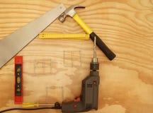 Maison d'outils Images stock