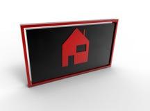 Maison dans la trame Image libre de droits