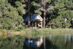 Maison dans le forrest Image stock