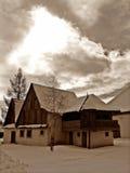 Maison dans le musée Pribylina. Photos libres de droits