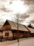 Maison dans le musée Pribylina. Image libre de droits